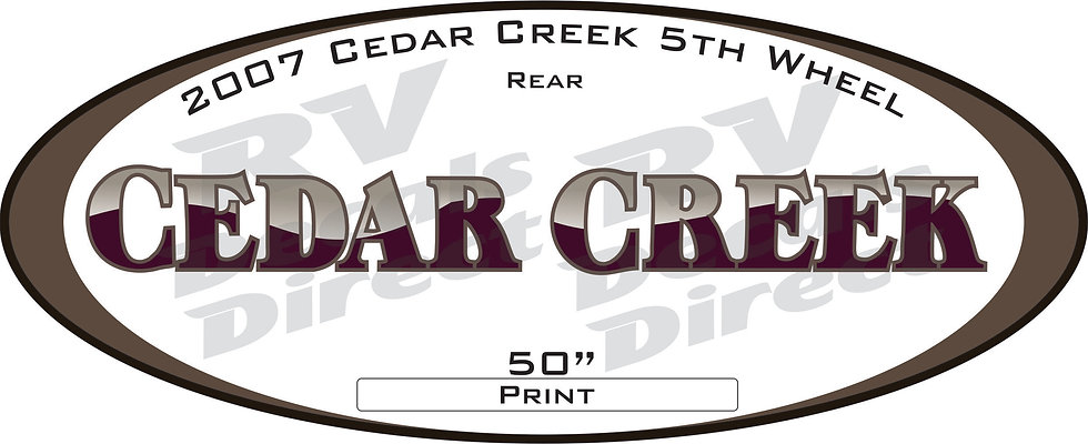 2007 Cedar Creek 5th Wheel