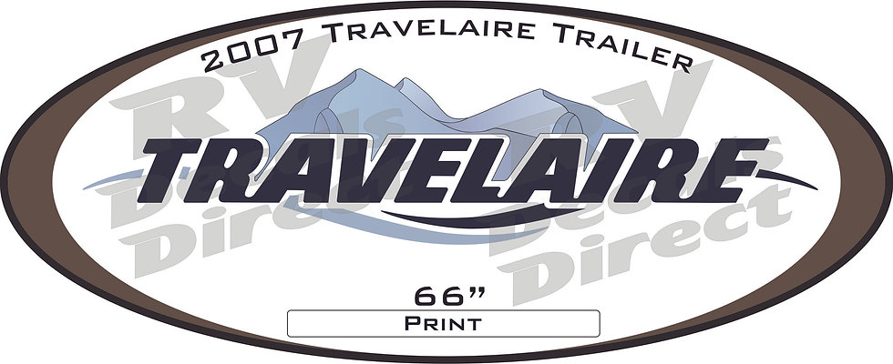 2007 Travelaire Travel Trailer