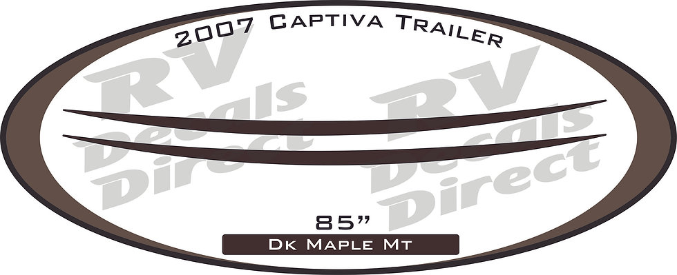 2007 Captiva Travel Trailer