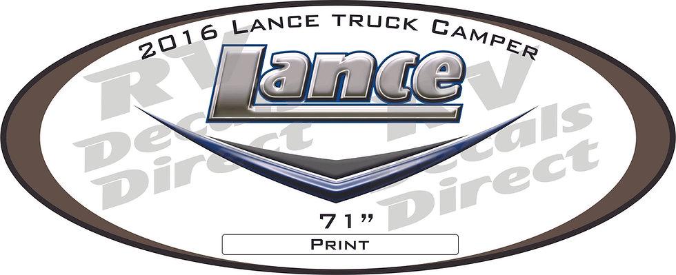 2016 Lance Truck Camper