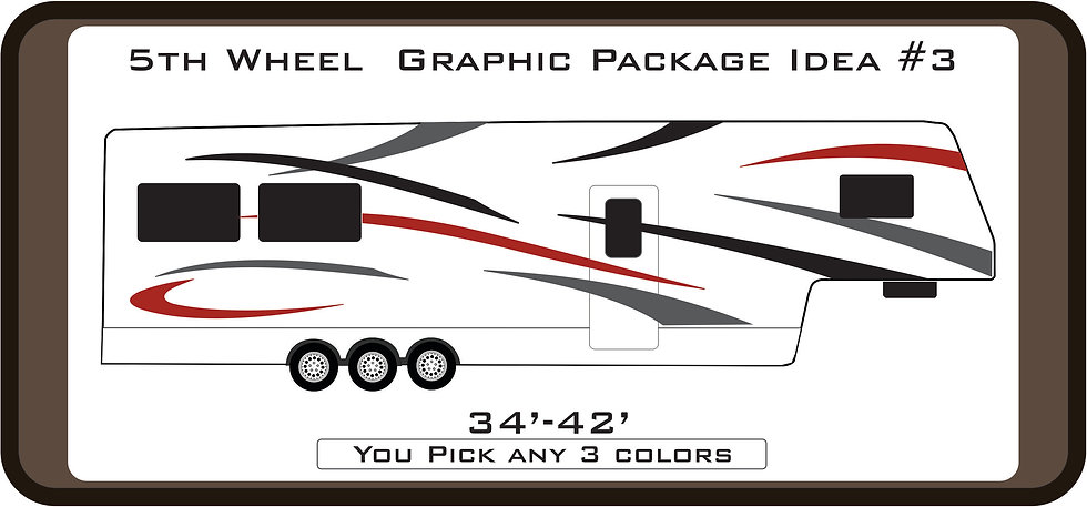 Custom Graphic Package for 5th Wheel