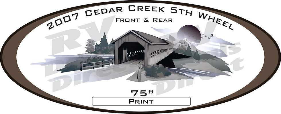 2007 Cedar Creek 5th Wheel