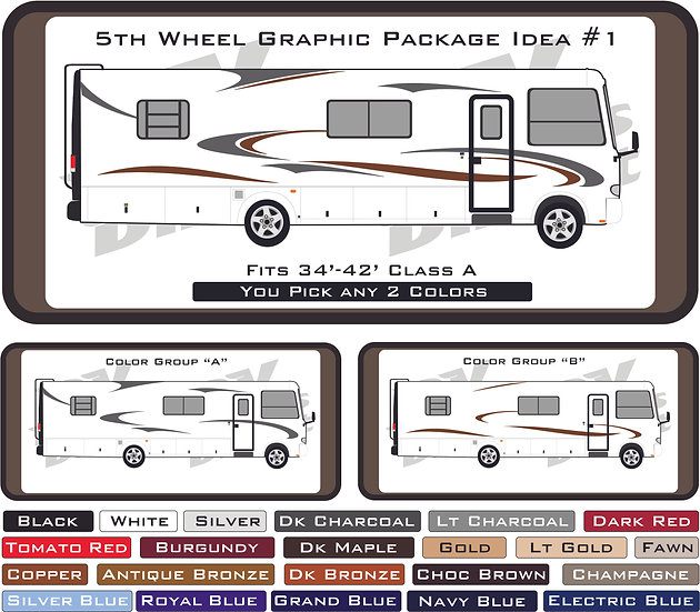 Class A Motorhome Graphic Package #1