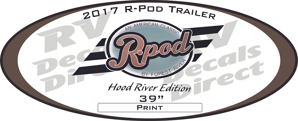 2017 R.Pod Travel Trailer