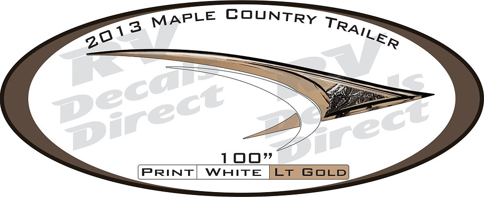 2013 Maple Country Travel Trailer