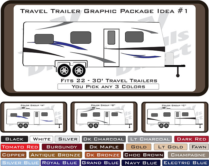 Travel Trailer Graphic Package Idea #1