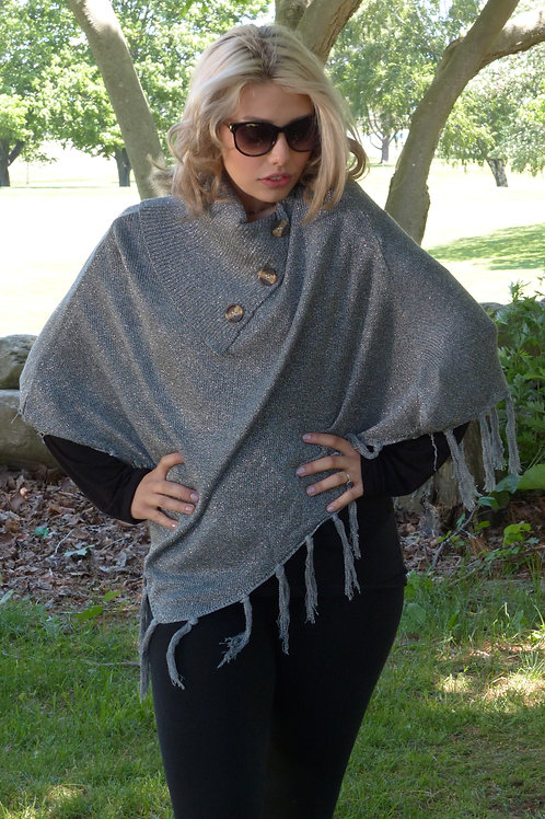 Sparkle Button Poncho