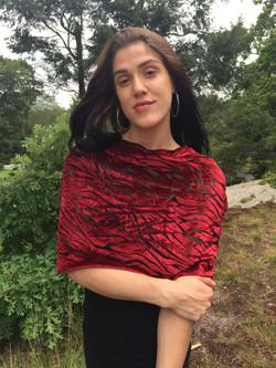 Velvet Scarf Red
