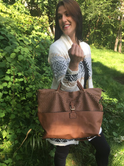 Scale Tote Brown