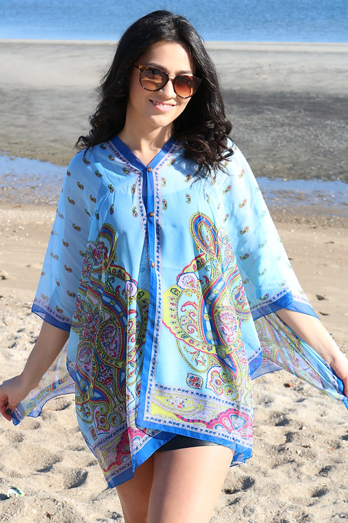 Button Tunic Paisley