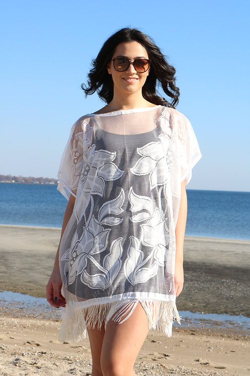 Floral Mesh Tunic