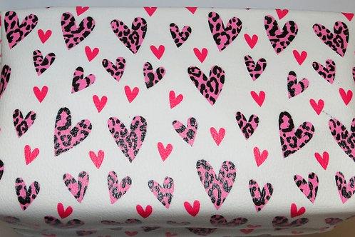 Pink Hearts Make Up Bag