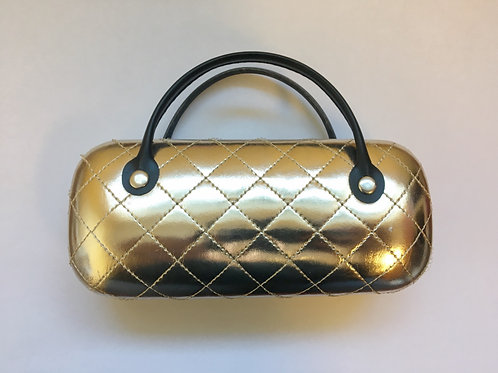 Quilted Metallic Handle Case