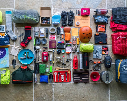 Kit to cycle round the world