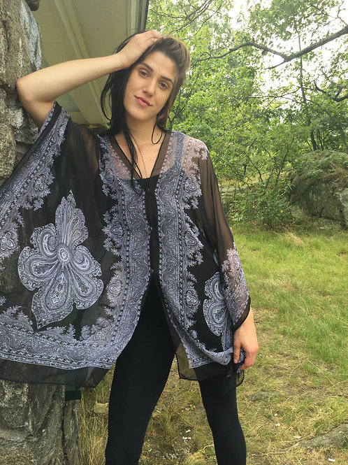 Holiday Special Damask Button Tunic