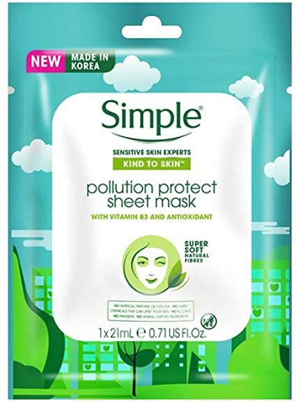 Simple Pollution Protect Sheet 21ml mask