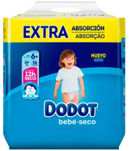 Dodot (Pampers) Nappies Size 6+(14+kg) 56pk
