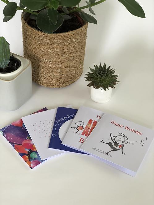 Greetings Cards (pack of 5)