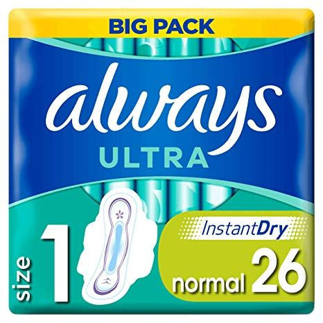 Always Ultra Normal Pantyliners with wings (26pk)
