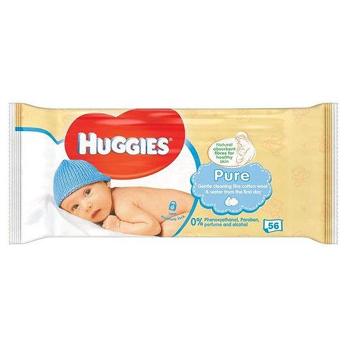 Huggies Pure Baby Wipes 56pk