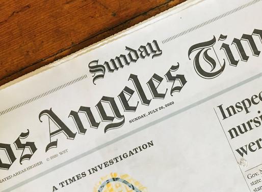 My LA Times Opinion letter: Reimagine California