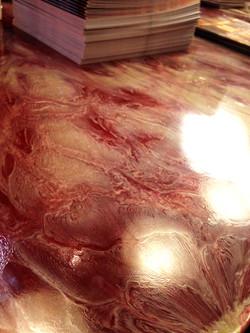 detalle mesa resina
