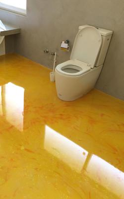 Baño principal resina terminado