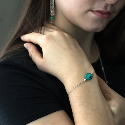 La Claire - Turquoise and Pearl Bracelet