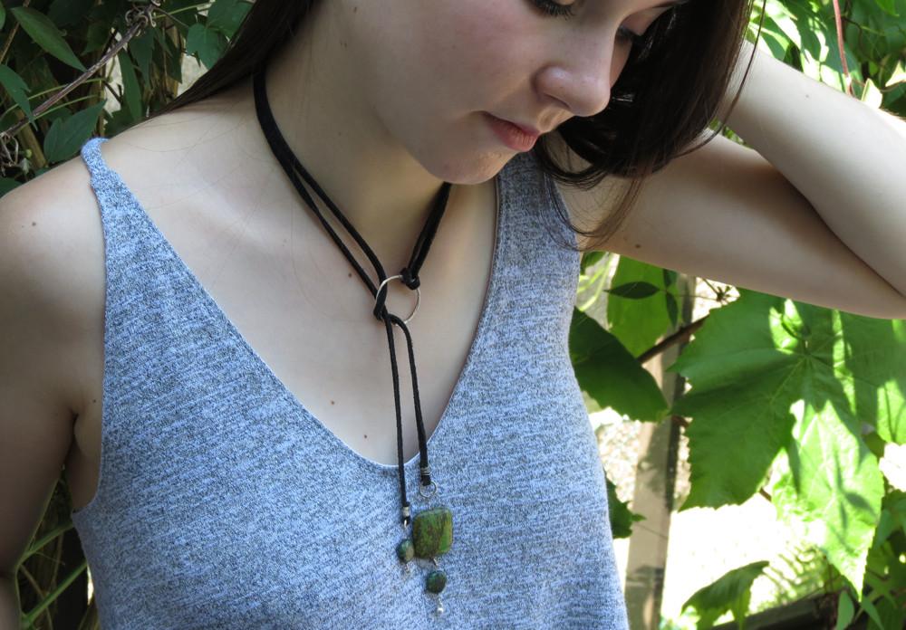 Bolero Seagrass Turquoise Necklace