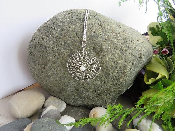 Single Mandala Pearl Necklace