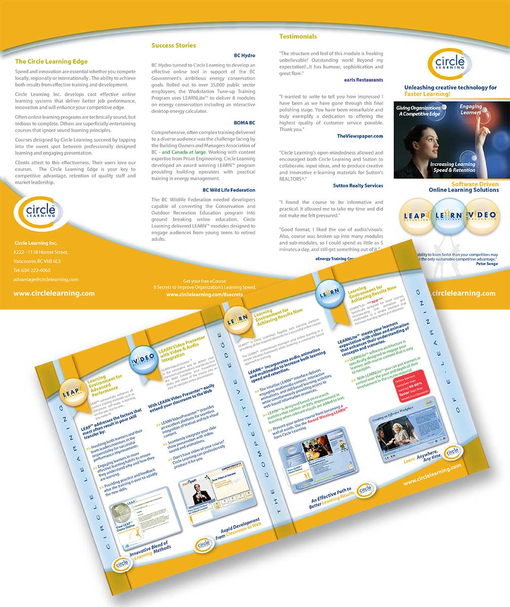 Circle Learning Tri-Fold Brochure