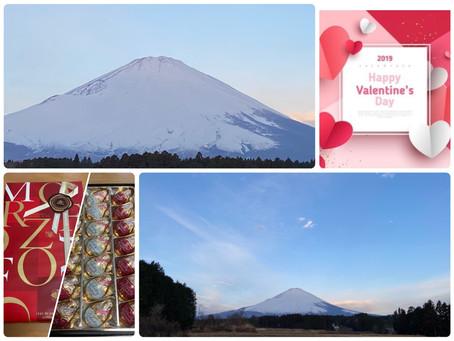 2月14日 バレンタインデーの富士山