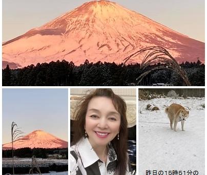 2021年1月13日(水)の紅富士🗻