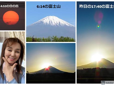 2021年5月10日の富士山🗻