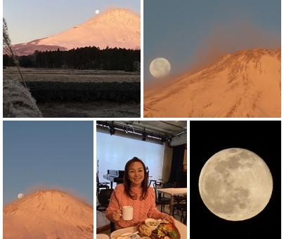 2021年1月30日(土)紅富士🗻とお月さま🌕