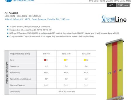 6876400 | 698-960 | 1695-2690 | 1695-2690 MHz | 6 port | Amphenol Antenna Solutions.