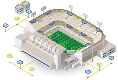 SOLiD | DAS System for større arenaer | Trådløse nettverk | kapasitet og dekning