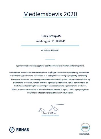 Meldemsbevis Renas TINEX Group.png
