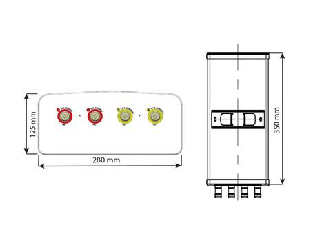 Amphenol | 5825388F00 | 2-Band | 4-Port | 65°| XPOL | Panel Antenna | Fixed Tilt | 350 mm
