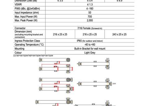 S315x034-V03 | Power Splitter 2- / 3- / 4-way 7/160 | 700W | PIM -160dBc | 698-4000 MHz | Kantenna
