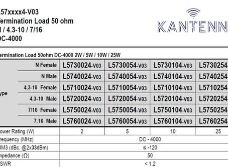 L5720054-v03 | Termination Load 50ohm DC-4000 2W / 5W / 10W / 25W | N / 4.3-10 / 7/16
