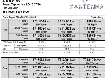 Power Tapper 380-4000 / 5300-6000 | PIM -160dBc | N / 4.3-10 / 7/16 | fra Kantenna | T71xxxx4-V02