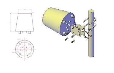 Log Periodic Antenna 3300-3800 MHz 12dBi | 4-port