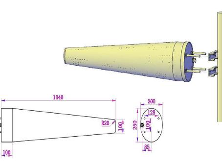 Log Periodic Antenna 690-960 / 1425-4000 MHz 12/14dBi fra Kantenna