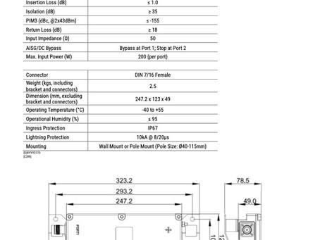 G12x3050-V02 | Dual Band Combiner | 68-520 / 698-2700 MHz | Kantenna