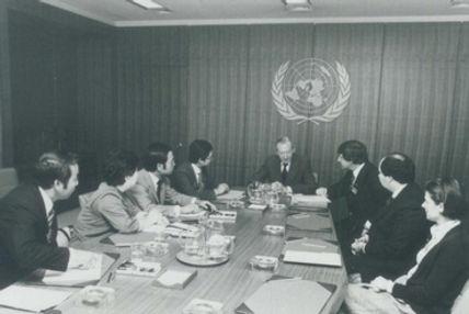 1981-JCI_President_Gary_Nagao_visits_UN_