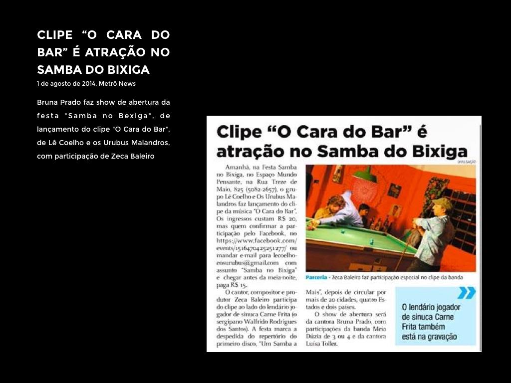 CLIPE O CARA DO BAR É ATRAÇÃO EM...