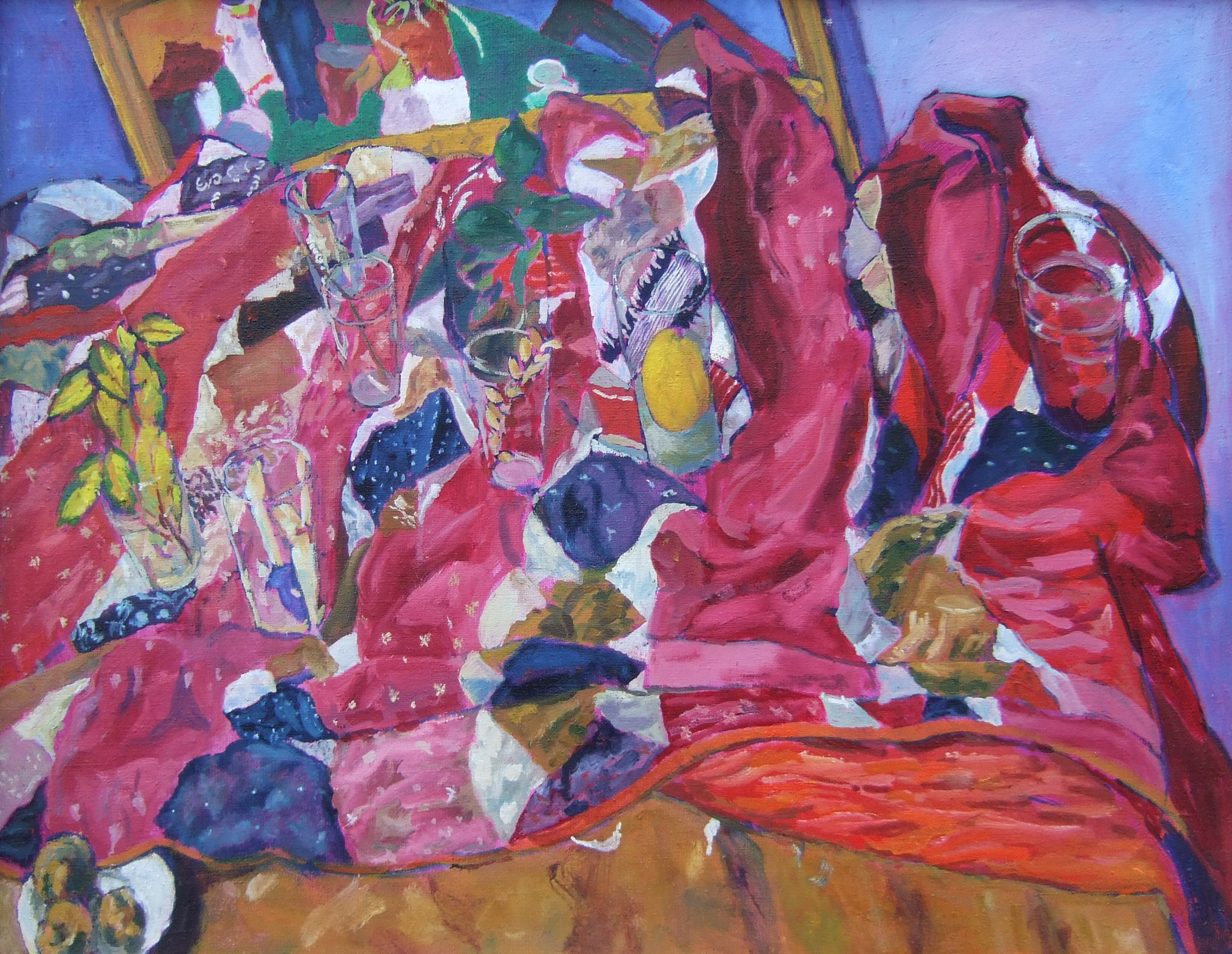 Still Life with Crumpled Tablecloth