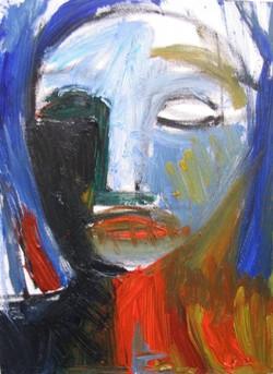 Blue and Orange Head