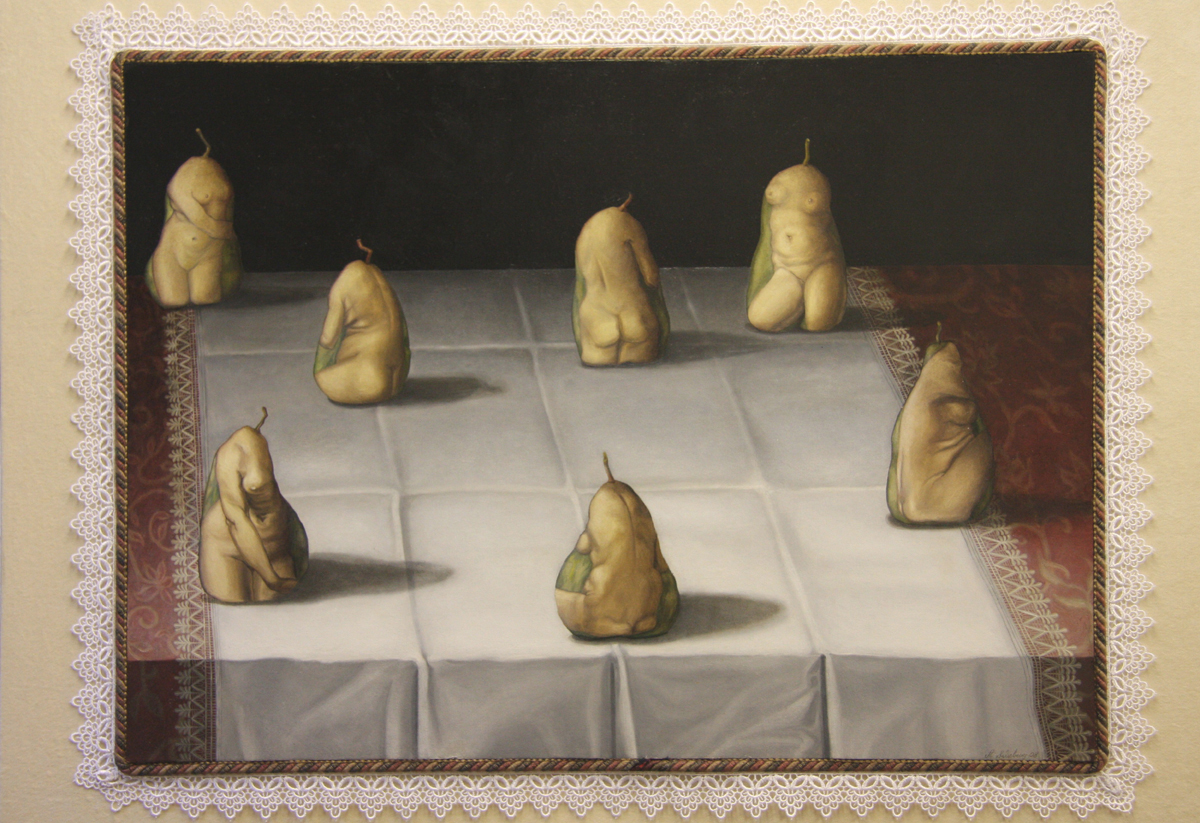 Post Modern Portrait of Pears